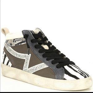 Gianni Bini Eleinaa Glitter zebra high top sneaker